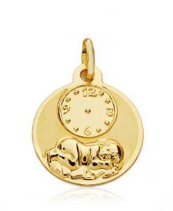 08000082 medalla niño hora 15mm 1.10grs tltu-80.00
