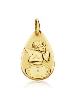 08000096 medalla lagrima angel reloj 18x11mm 1.00grs tree-70.00