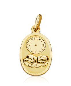 12000550 medalla niño hora 18x10mm 0.90grs tilu60.00