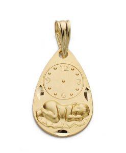 26000339 medalla niño reloj 19x12mm 1.40grs rkrt-100.00