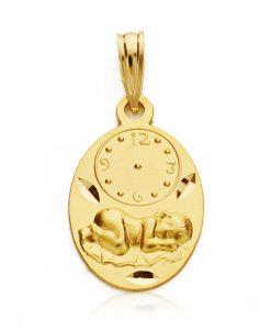 26000341 medalla niño reloj 19x12mm 1.40grs uiui-100.00