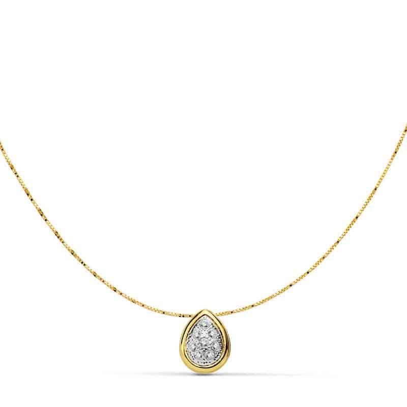 87e5a2d9243b Collar Oro Amarillo 18 y k Colgante Lágrima