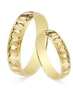 Alianza de 4 mm en Oro Amarillo 18 Quilates Tallado Circular en Brillo