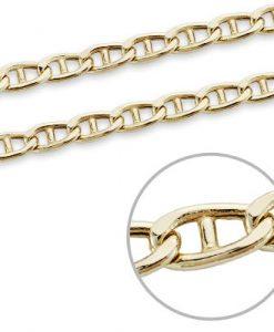 Cadena Ancla de Oro Amarillo 18 Quilates con 60 cm de Largo y 13,40 gramos