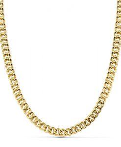 Cadena Barbada de Oro Amarillo 18 Quilates con 60 cm de Largo y 12,60 gr