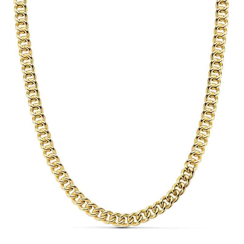 983e9864d3f6 Cadena Barbada de Oro Amarillo 18 Quilates con 60 cm de Largo y 12