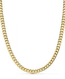 Cadena Barbada de Oro Amarillo 18 Quilates con 50 cm de Largo y 7,75 gr