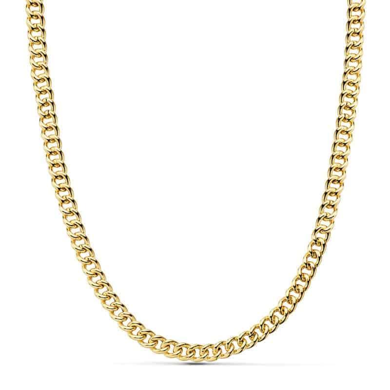 4edc28408cee Cadena Barbada de Oro Amarillo 18 Quilates con 50 cm de Largo y 7