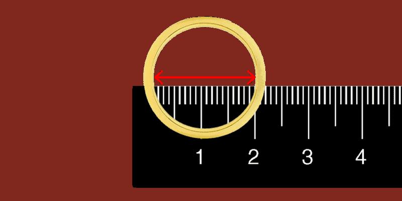 como medir un anillo