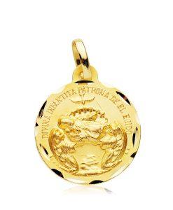 Medalla Divina Infantita en Oro Amarillo 18 Quilates