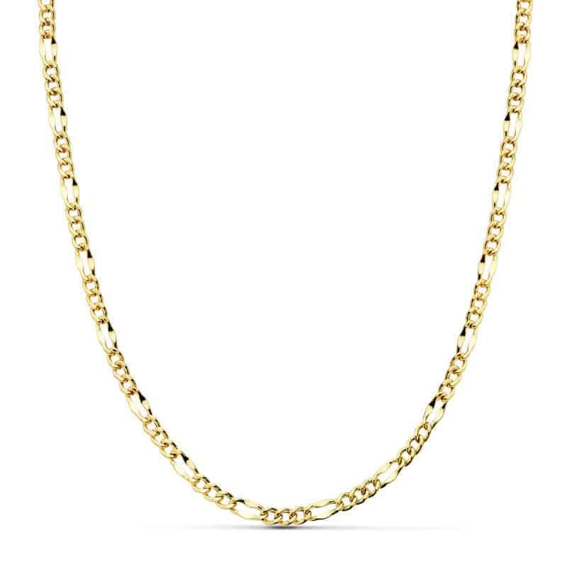 a965981fefb3 Cadena Cartier Hueca de Oro Amarillo 18 Quilates con 60 cm de Largo y 5