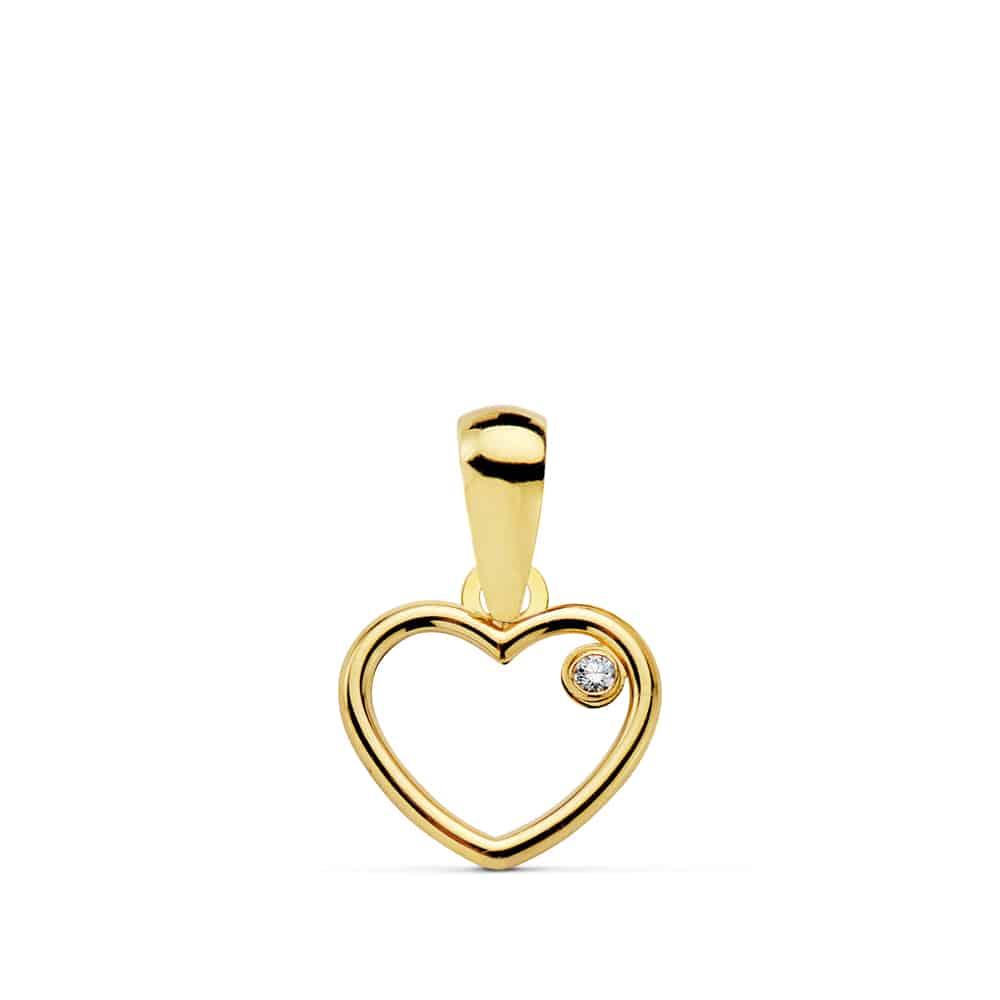 e692f167acc0 Colgante Corazón Oro 18K con Circonita