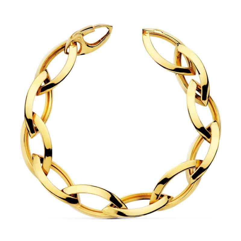 7d898c5c0eed Pulsera Eslabones Oro Amarillo 18k