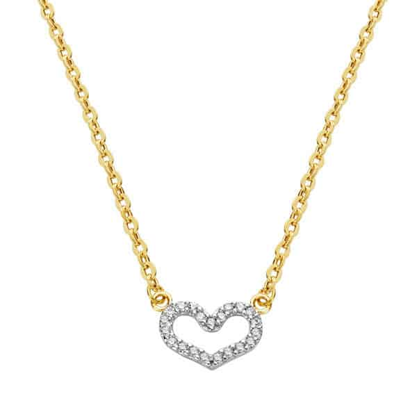 01addf65bacb Gargantilla Corazón de Circonitas Oro 18K